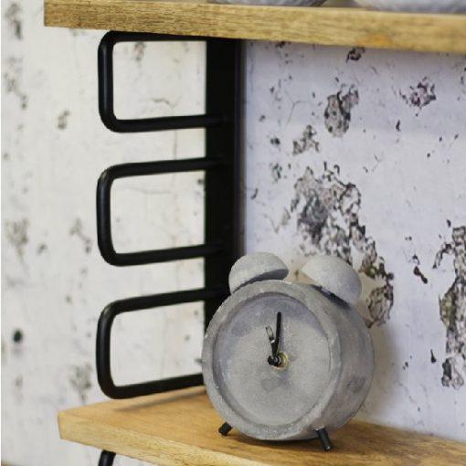 Wandplank industrieel metaal zwart