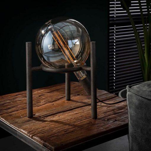 tafellamp-glazen-bol-metaal-design