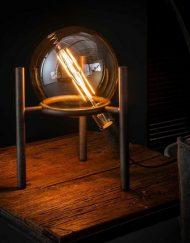 tafellamp-glazen-bol-metaal-nachtkastje