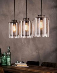 Hanglamp industrieel glas rooster