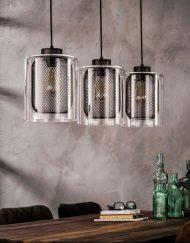 Hanglamp industrieel glas stoer