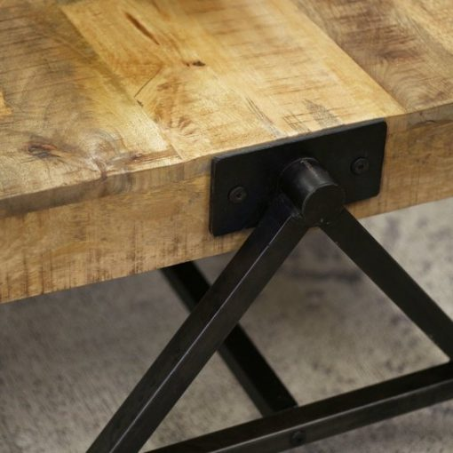 Industriële salontafel mangohout design