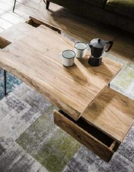 Salontafel boomstam acacia hout industrieel