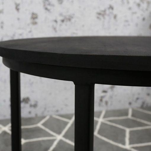 Set van 2 salontafels zwart hout