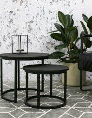 Set van 2 salontafels zwart