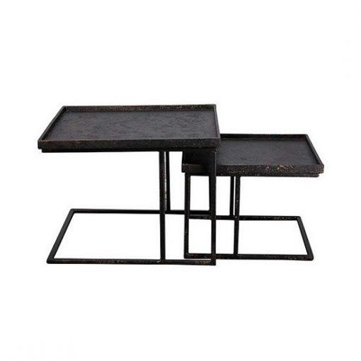 Vierkante salontafel set stoer