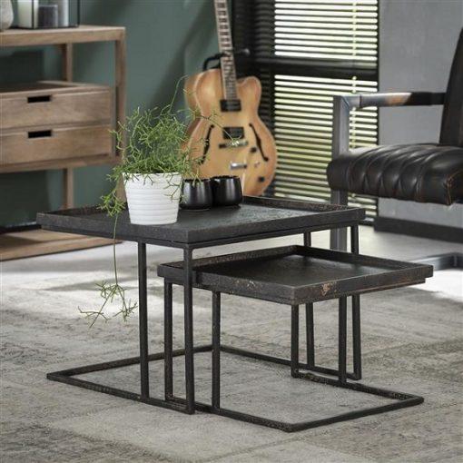 Vierkante salontafel set 2