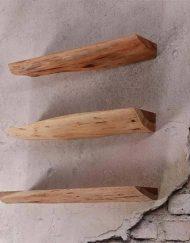 Boomstam wandplank set acaciahout