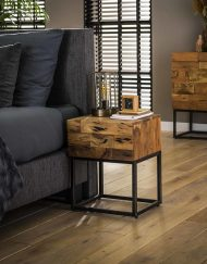 Nachtkastje acacia hout met lade