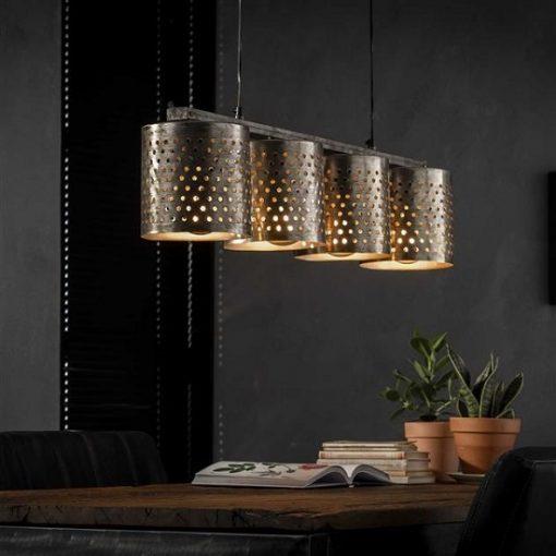 Hanglamp metaal industrieel modern eettafel