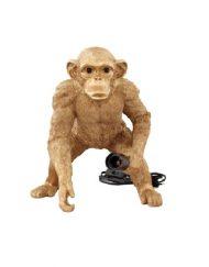Lamp aap goud staand