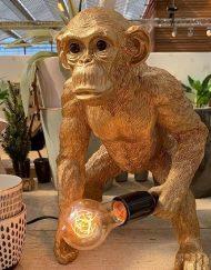 Lamp aap goud staande