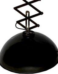 Vintage hanglamp schaarlamp zwart metaal