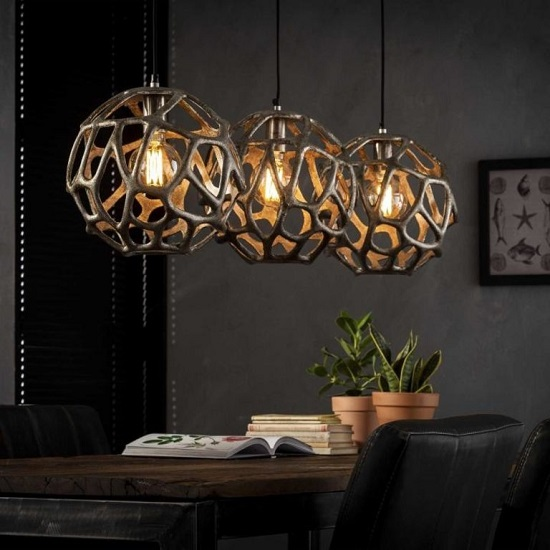 Eetkamer Hanglamp Industrieel Bol Blockdesign