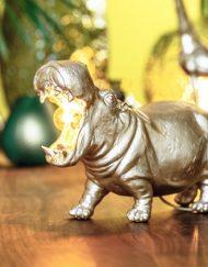 Dierenlamp nijlpaard goud