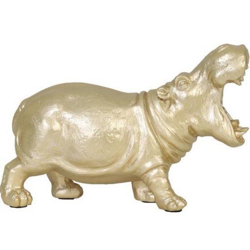 Dierenlamp nijlpaard goud stoer