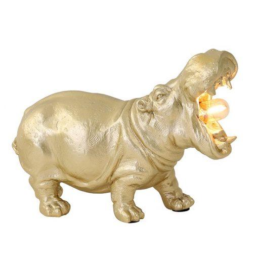 Dierenlamp nijlpaard gouden