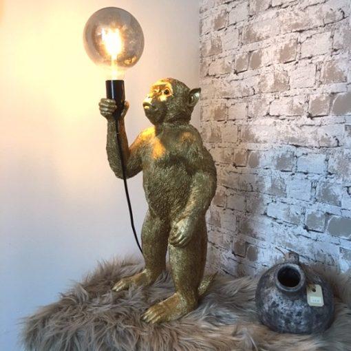 Lamp aap goud of zwart
