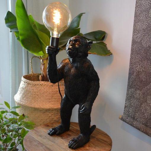 Lamp aap zwart staand