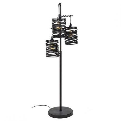 Vloerlamp zwart drie lichten