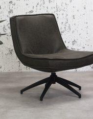Antraciet draaibaar fauteuil industriele