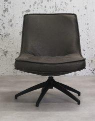 Antraciet draaibaar fauteuil wonen