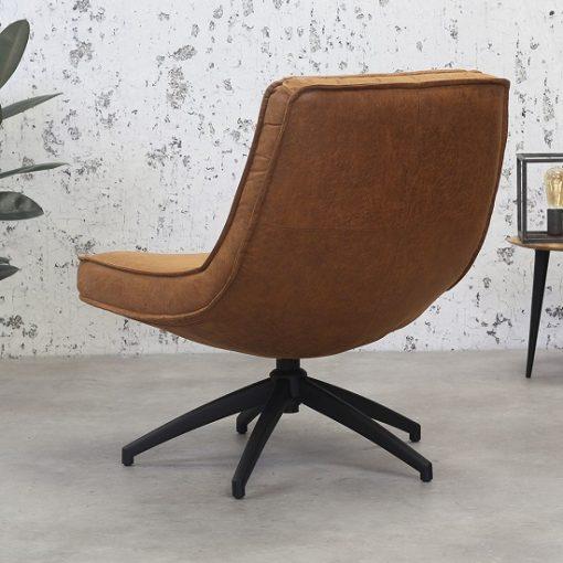 Cognac draaibaar fauteuil design