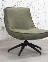 Draaibare fauteuil rustiek groen