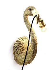 Flamingo wandlamp goud