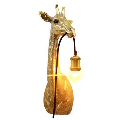 Gouden wandlamp giraf