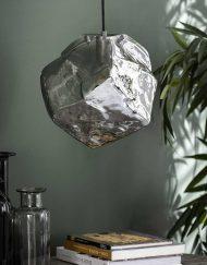 Hanglamp glas blok industrieel