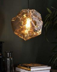 Hanglamp glas chromed sfeer