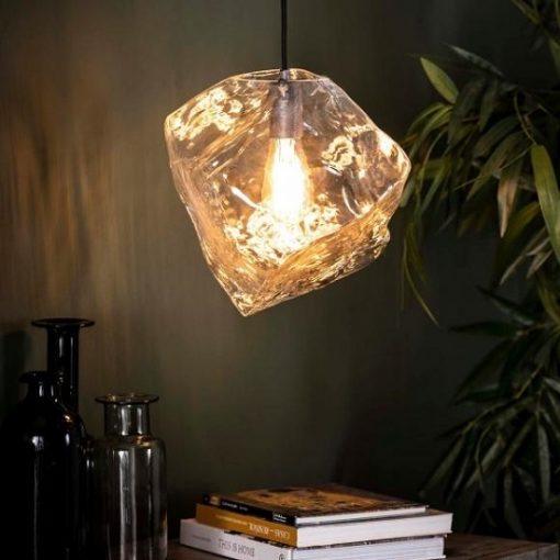 Hanglamp glas helder industrieel