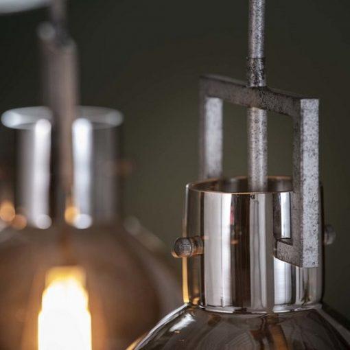 Hanglamp verchroomd industrieel design