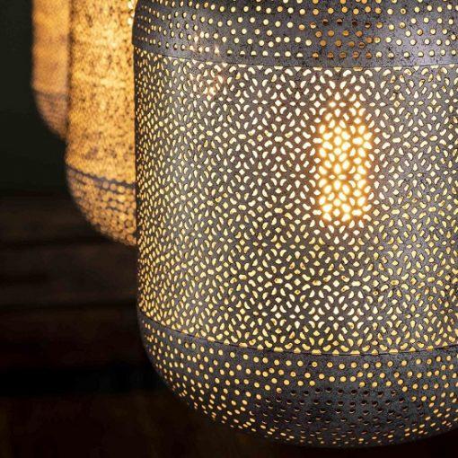 Metaal hanglamp oosterse licht