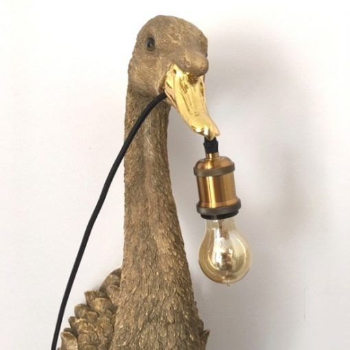 Wandlamp goud zwaan dieren