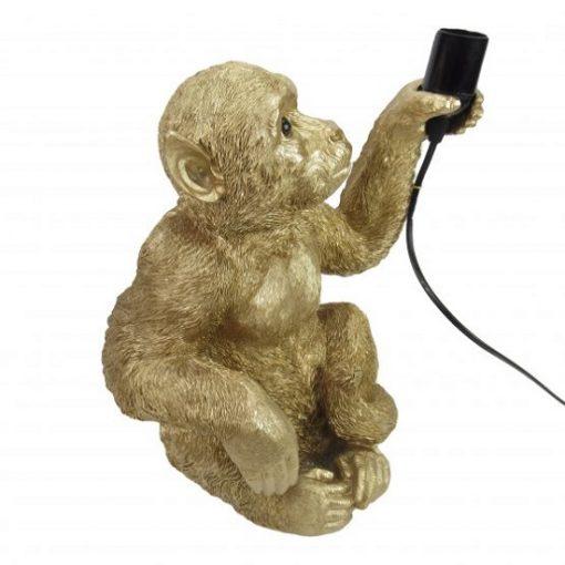 Lamp aap goud zittend