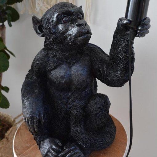 Lamp aap zwart zittende