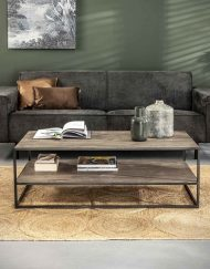 Salontafel acacia hout greywash