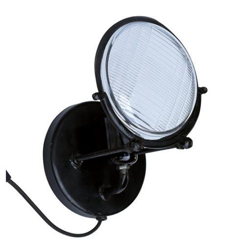 Wandlamp zwart industrieel glas