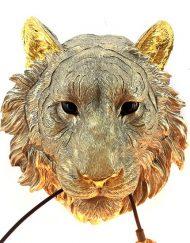 Dierenkop wandlamp tijger