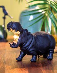 Dierenlamp nijlpaard zwart