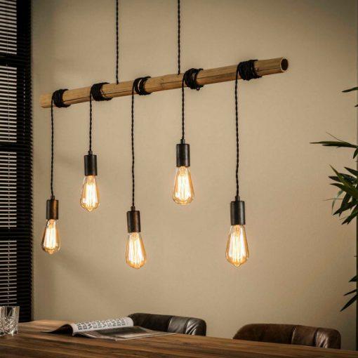 Hanglamp bamboo industrieel design 5 L