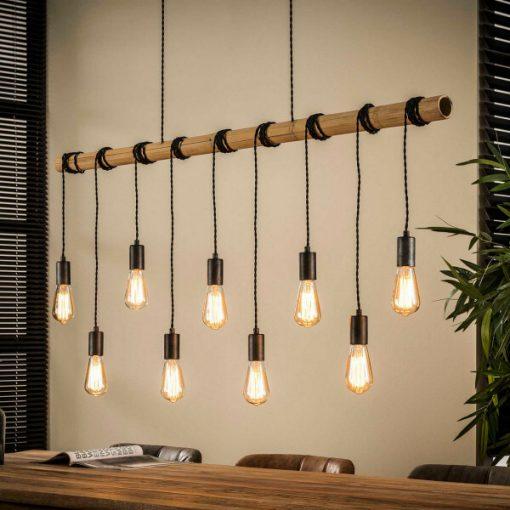 Hanglamp bamboo industrieel design 9 L