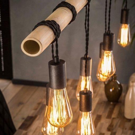 Hanglamp bamboo industrieel hout