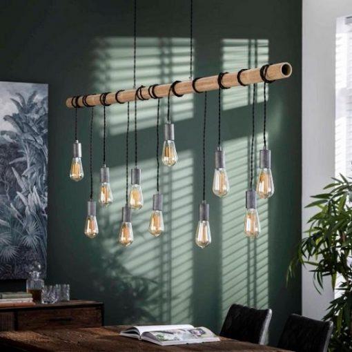 Hanglamp bamboo industrieel sfeer