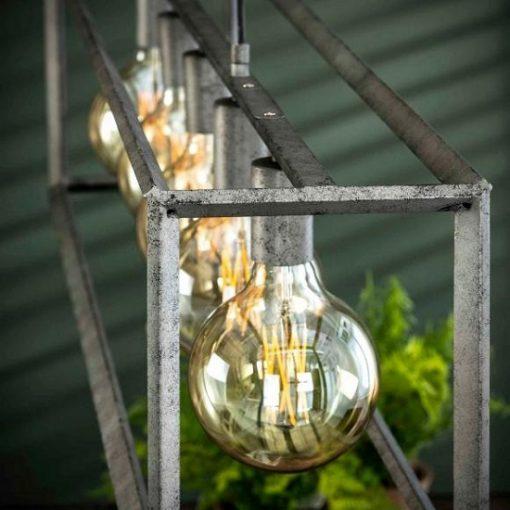 Hanglamp grijs metalen frame