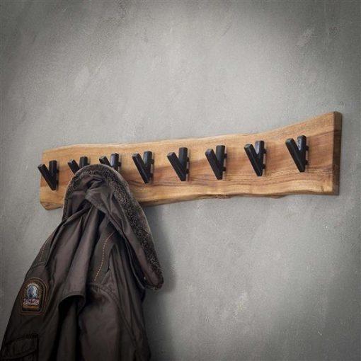 Kapstok acht haken hout