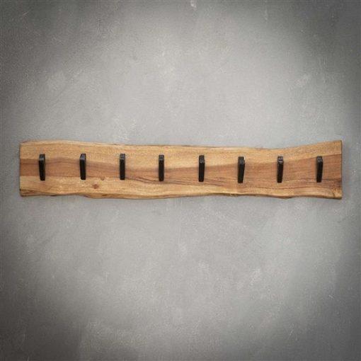 Kapstok acht haken hout rustiek
