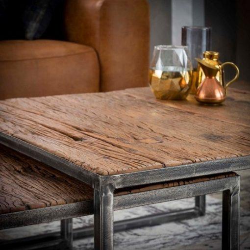 Salontafels hardhout stoer design